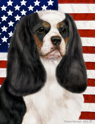 Garden Indoor/Outdoor Patriotic II Flag - Tri Cavalier King Charles 320481