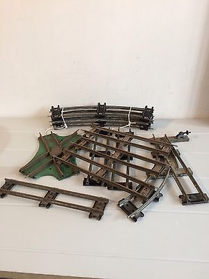 Vintage Hornby O Gauge 2 Rail Track Lot13 Collection Crossing And Points Etc