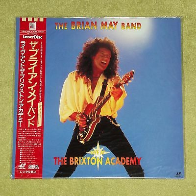 QUEEN / BRIAN MAY Live At The Brixton Academy - RARE JAPAN PROMO LASERDISC + OBI