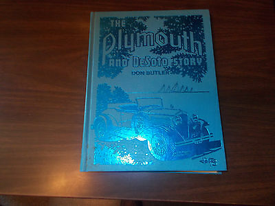 The Plymouth & DeSoto Story / Don Butler / 1978/ Crestline Series Hardcover Book