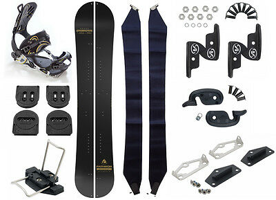 Snowboard Splitboard Pathron Carbon Gold Split + Voile Hardware + SP FT Bindung
