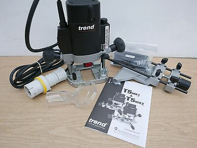 """Trend T5E T5Elb 1000W Plunge Router 1/4"""" Collet 110V + Diamond Credit Card"""