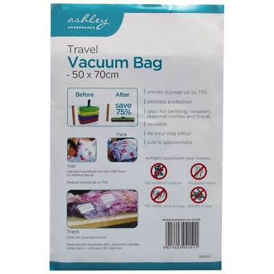 50x70cm Roll Up Space Saving Travel Vacuum Seal Bags Zip Lock Holiday Luggage