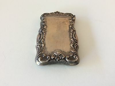 ORNATE STERLING SILVER MATCH SAFE FOB CHATELAIN No MONOGRAM