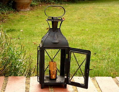 Sheet Iron Antique Victorian Pendant Candle Lantern