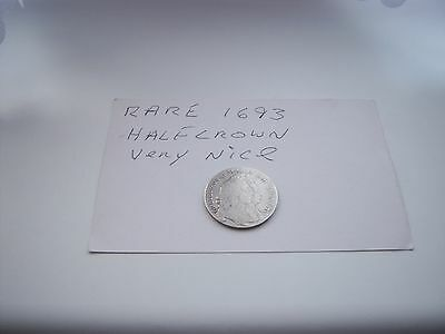 Coin 1693 Half Crown William And Mary Rare.uk Only