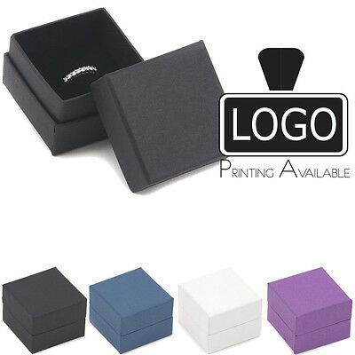 Exquisite Jewellery Ring Gift Boxes 50x50x38mm RRTP02 (Printing Available £)