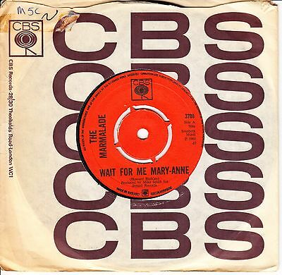 The Marmalade *wait For Me Mary-Anne* 1968 Uk Cbs Garage/ Psych Rock N Mint