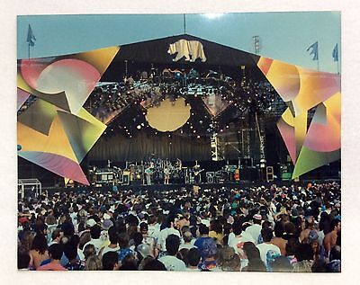 "GRATEFUL DEAD WHOLE BAND PHOTO - Cal Expo, Sacramento, CA - 5-21-92 - 8"" x 10"""
