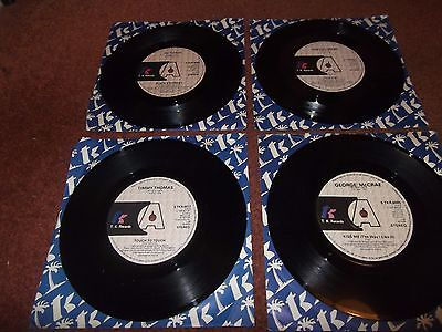 A Job Lot Of 4  Promo T.k Records .all Ex / Ex+.timmy Thomas Etc.