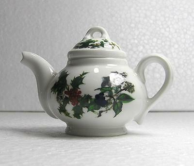 "Portmeirion ""Holly & the Ivy""  Miniature Tea Pot By Nanny Cooper Wills"
