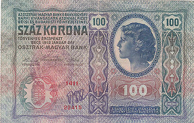 100 Krone Banknote 1919!with Military Stamp Of Kingdom Of Serbs,croats Slovenes!