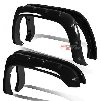 For 94-01 Ram 1500-3500 Matte Black Fender Wheel Flares Pocket Riveted Style