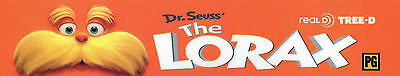 Dr. Suess THE LORAX Movie Theater Mylar Home Game Media Dorm Teen Kid Class Room