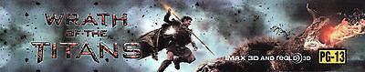 WRATH OF THE TITANS Movie Theater Box Office Mylar Home Media Teen Room Man Cave