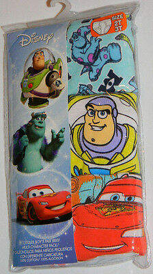 New Disney Cars Monsters Inc Toy Story Toddler Boys Briefs Underwear Sz 2T 3T