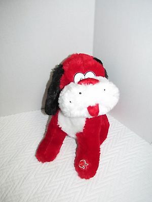"DanDee Plush Puppy Dog ""Do You Love Me"" Sing & Dance Red & White VALENTINES"