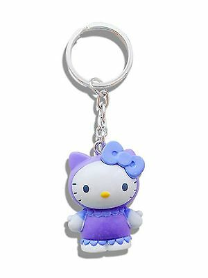 Genuine Sanrio Hello Kitty 'Blueberry' Scented 3D Keyring Fob Key Ring Gift