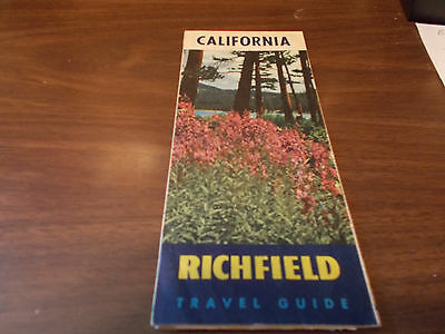 1940s Richfield California Vintage Road Map