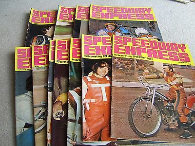 Full set of 11 1972 Speedway Express magazines, great colour covers etc