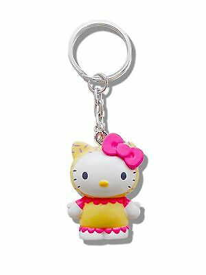 Genuine Sanrio Hello Kitty 'Vanilla' Scented 3D Keyring Fob Key Ring Gift