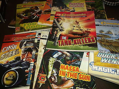 29 COMMANDO COMICS - 4500 Numbers..63 Page War Picture Comics