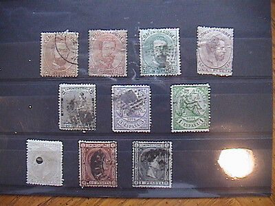 Spain - Selection Of Early Used Stamps, Little Duplication