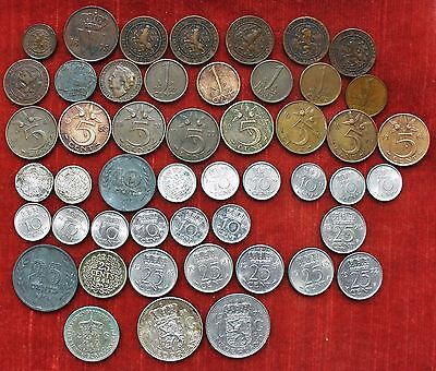 COINS,SOME SILVER . HOLLAND / NEDERLAND. DUTCH COLLECTION . From 1878. 49 coins