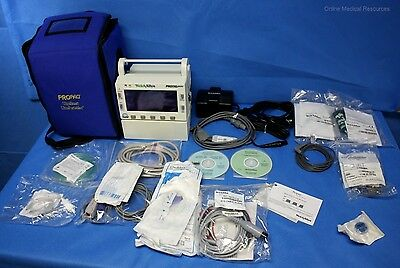 Welch Allyn Propaq Encore 206EL Monitor ECG Sidestream CO2 Nellcor SPO2 NIBP IBP
