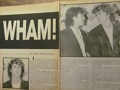 Wham, George Michael, Two Page Vintage Clipping