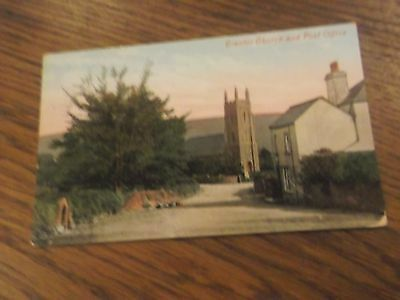 Brentor -  Vintage  Postcard  Brentor Church And Post Office  Devon