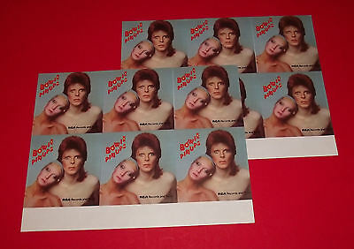 org VINTAGE 1973 DAVID BOWIE PINUPS pin-ups 2 sheets RCA  PROMO STICKER (12)
