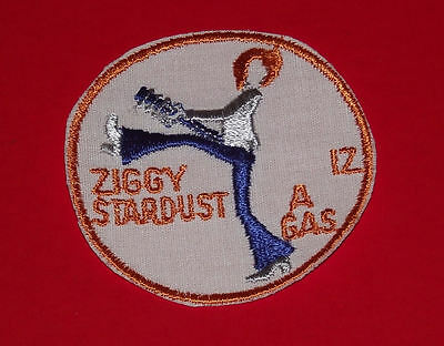 VINTAGE 1972 DAVID BOWIE ZIGGY STARDUST IZ A GAS EMBROIDERED jacket PATCH PROMO