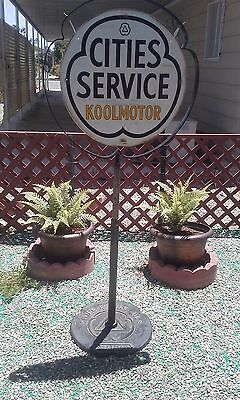 RARE 1950's CITIES SERVICE SWINGING SIDEWALK SIGN........LOOK