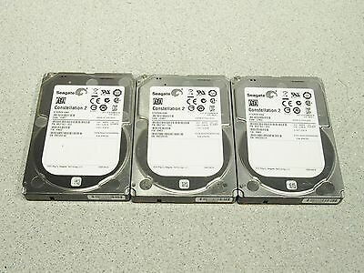 "Lot of 3 Seagate Constellation ST9250610NS 250GB SATA 7200rpm 2.5"" Hard Drive"