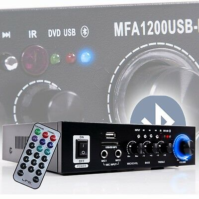 Karaoke Bluetooth SD USB MP3 Home Cinema Amplifier Music Party Audio DJ Sound