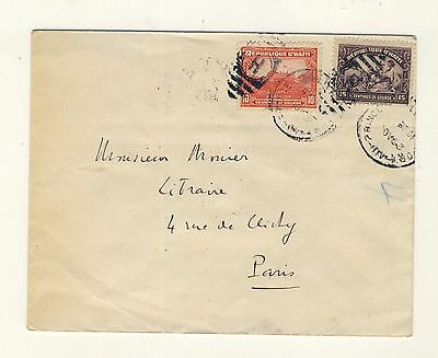 HAITI - 1938 Attractive Cover from Port-au-Prince to Paris, France (b)