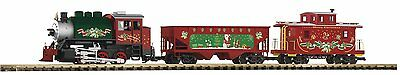 Piko 38105, G Scale, Christmas Freight Starter Train Set w/Lights