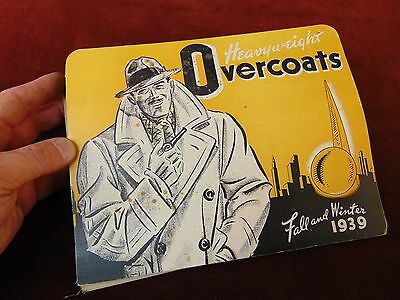 1939 National Tailoring Co WOOL OVERCOAT FABRIC Coat Cloth SAMPLE Book