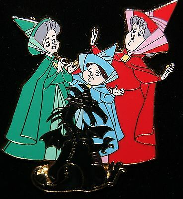 RARE Disney Shopping Pin Time for Toys Maleficent Flora Fauna Merryweather LE OC