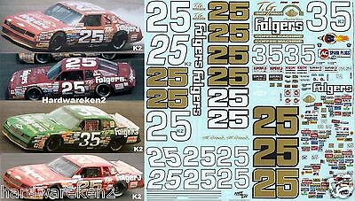 Nascar Decal #25 / #35 Folgers 1986-1987 Monte Carlo Tim Richmond- Benny Parsons