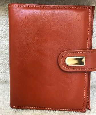 Winston Cowhide Leather Address Book with National Blank Book Fillers