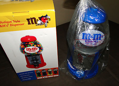 M&m Gumball Machine Dispenser Antique Style Works With Coins New In Box