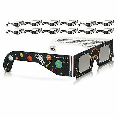 Solar Eclipse Glasses 2017 Galaxy Edition (10 Pack) CE and ISO Standard Viewi SW