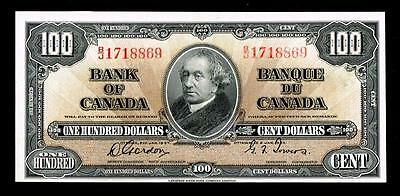 1937 $100 Canadian Bank Note~~UNCIRCULATED~~HIGH GRADE