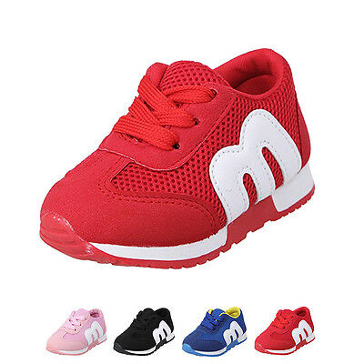 Kids Child Breathable Sneakers Boys Girls Running Casual Sport Shoes Popular