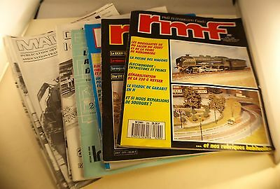 Lot de documentations modélisme ferroviaire RMF Magza'N train