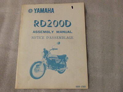 Yamaha Rd200D Assembly Manual  90894-07624   1