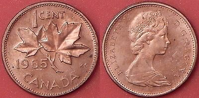 Brilliant Uncirculated 1965 Canada Small Beads & Blunt 5 1 Cent From Mint's Roll