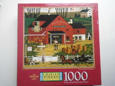 Charles Wysocki's Brooms Brushes and Barrels 1000 Piece Americana Jigsaw Puzzle
